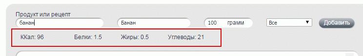 """Калорийность банана в """"Здоровой России"""""""