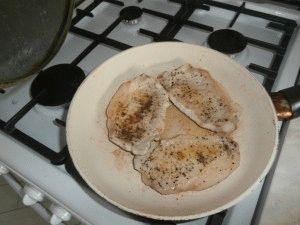 Нежирные шницели на керамической сковороде